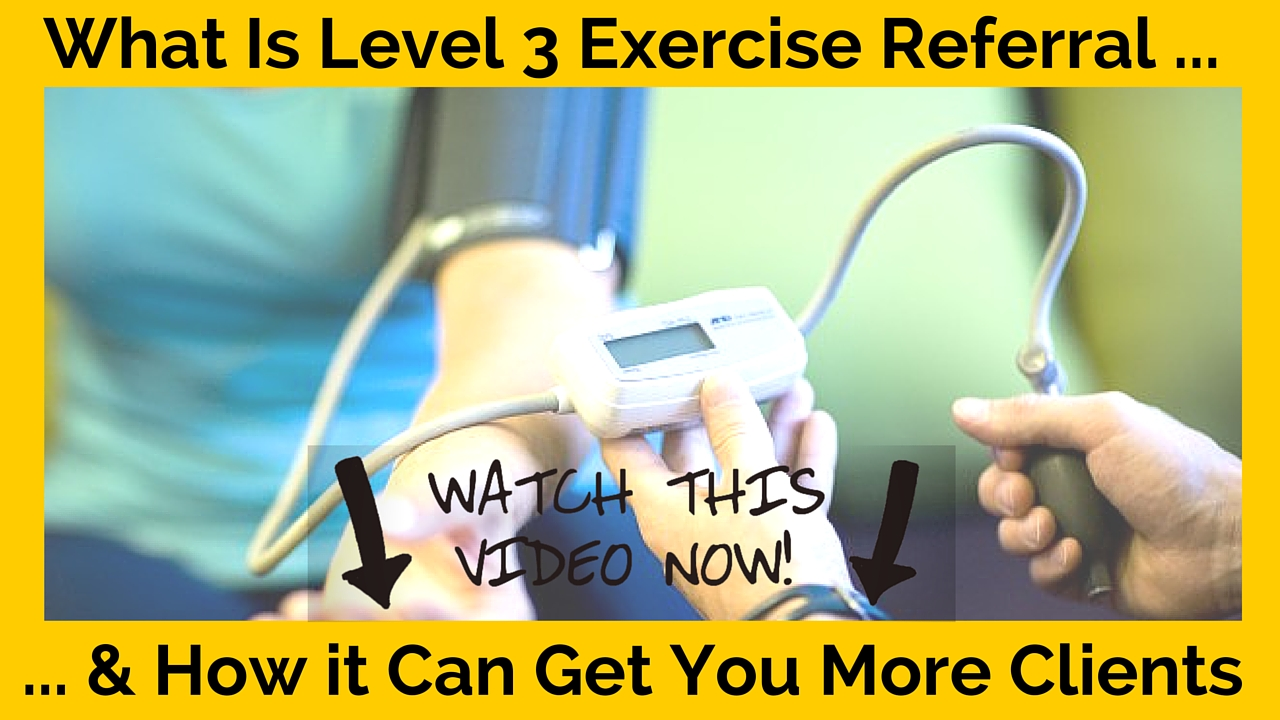 Level 3 exercise referral course