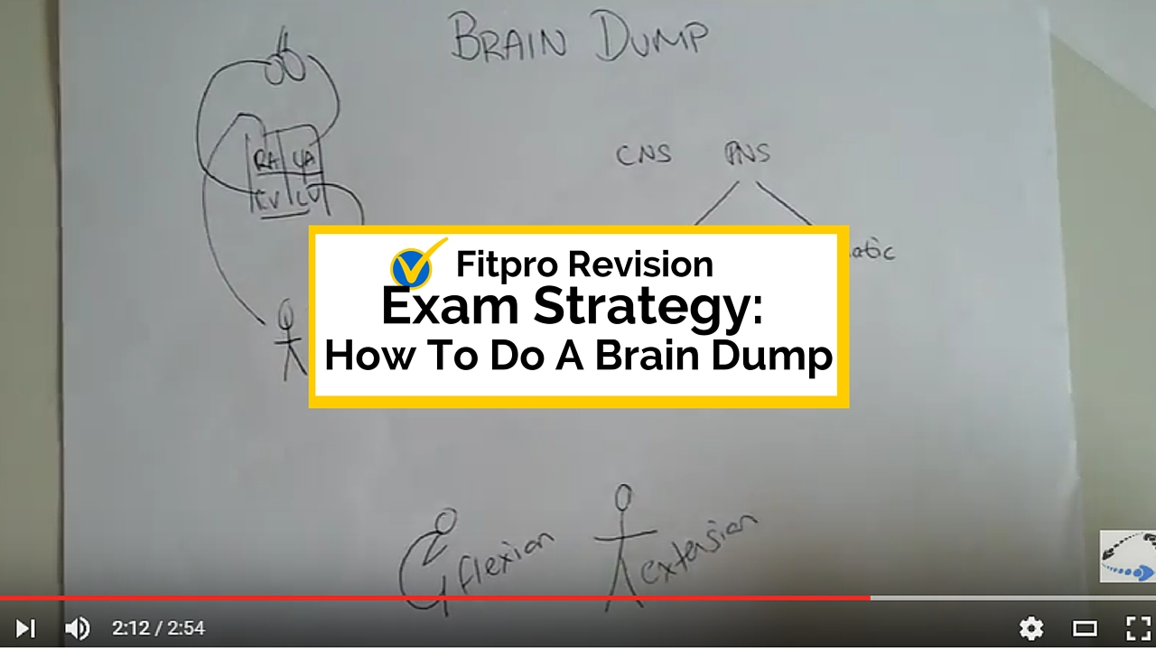 Exam Strategy: How to do a Brain Dump