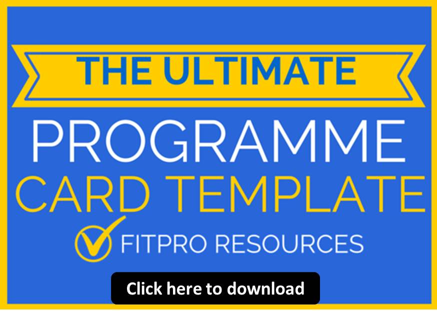 lm programme card template