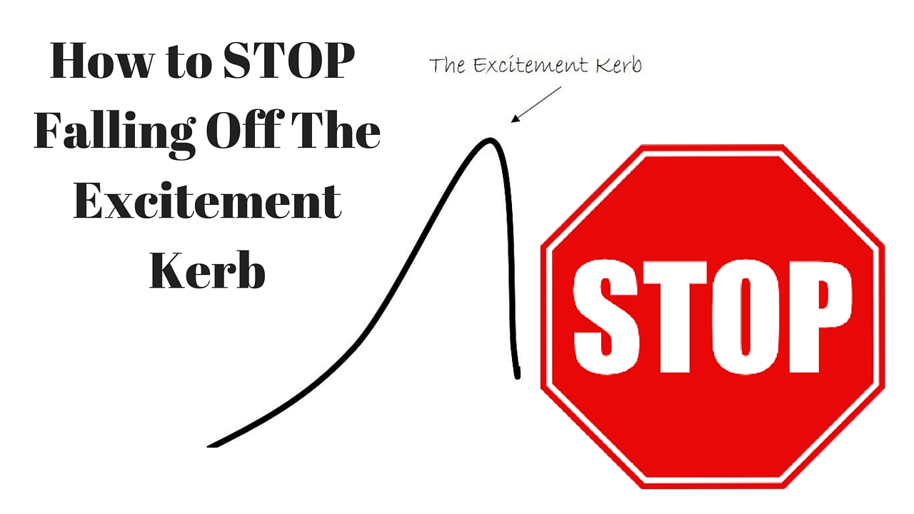 Stop The Excitement Kerb as a New Personal Trainer