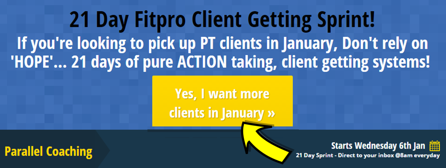 21 day challenge - how to get more cpersonal trainer clients in January