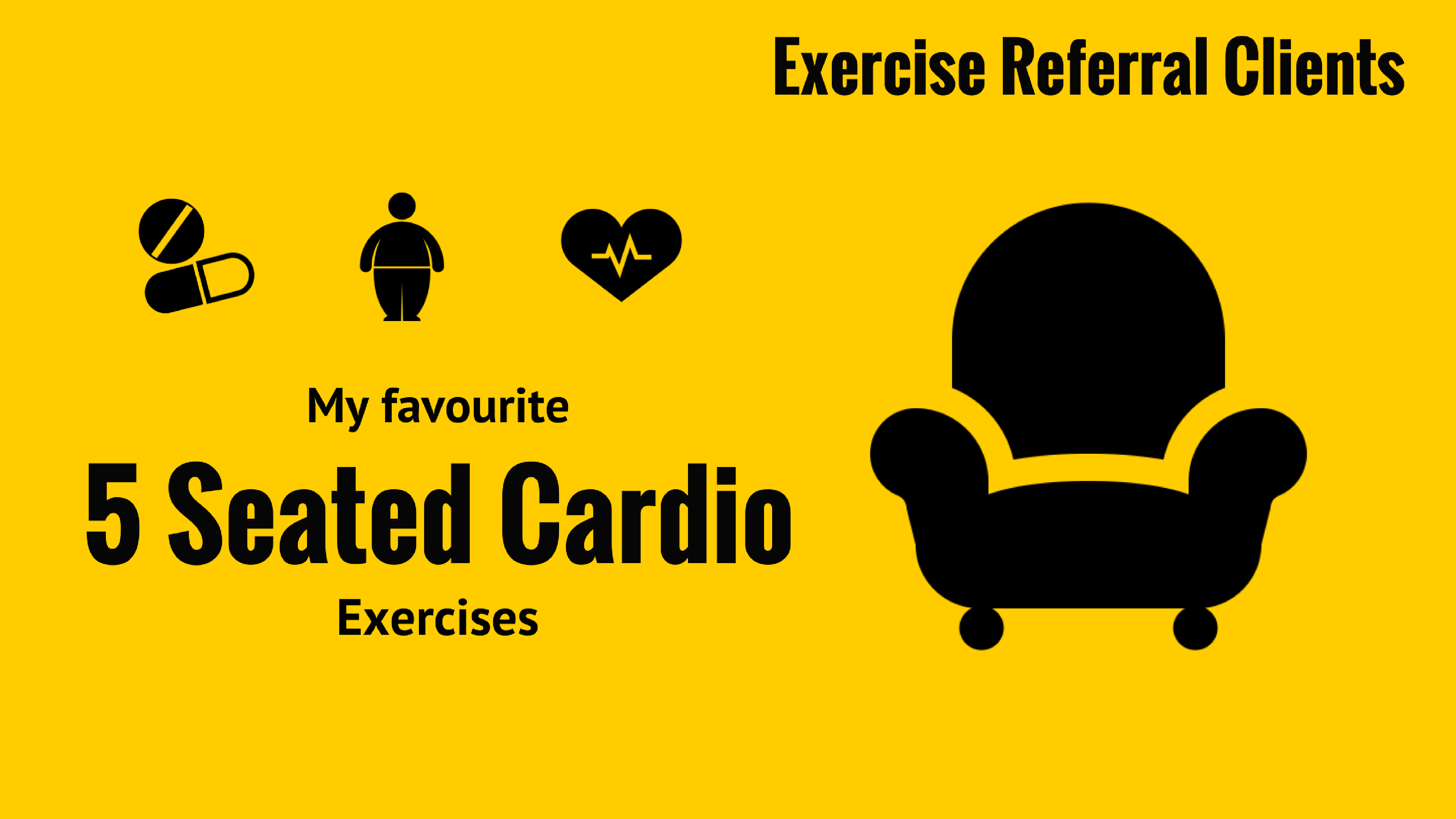 [Exercise Referral Clients] 5 Seated Cardio Exercises