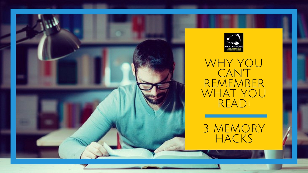 Why you cant remember what you read