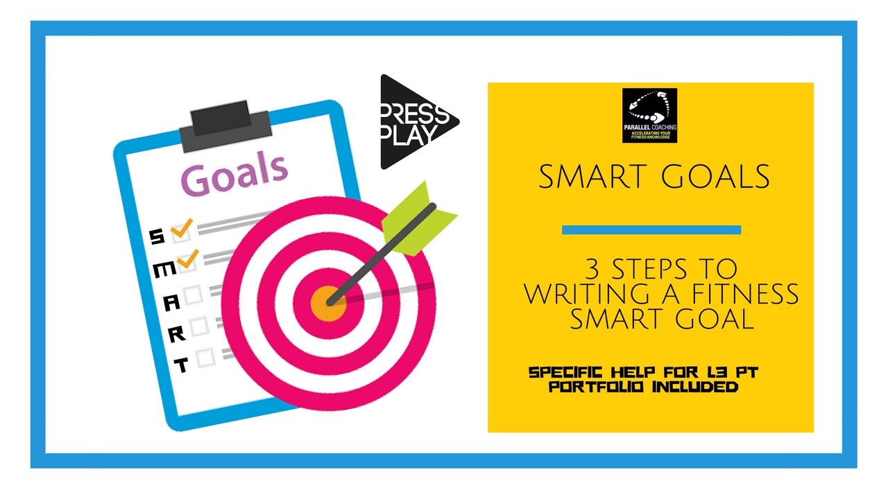 SMART goals – 3 steps to writing a fitness smart goal