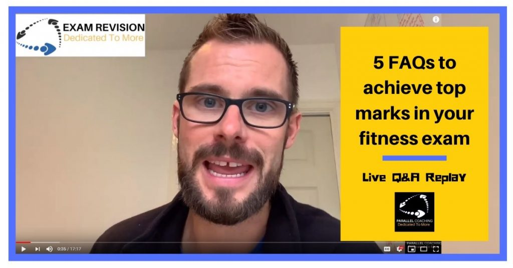 5 FAQs to achieve top marks in your fitness exam