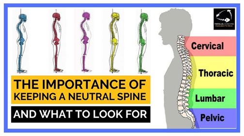 The importance of a neutral spine and what to look for
