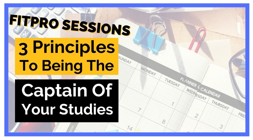 Episode 038 Three Principles for being the captain of your studies